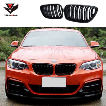 F22 F23 Coupe & Convertible F87 M2 M-look Carbon Front Racing Grill Grille for BMW 2 Series F22 F23 F87 M2 2016